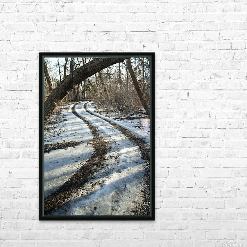 Snowy Trails HD Sublimation Metal print with Decorating Float Frame (BOX)
