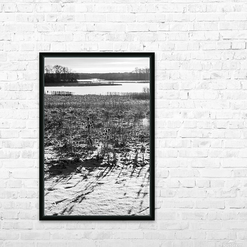 Cattails at Dawn HD Sublimation Metal print with Decorating Float Frame (BOX)