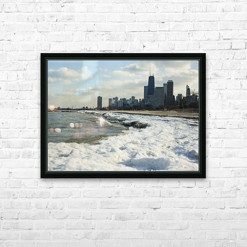 Lake Michigan HD Sublimation Metal print with Decorating Float Frame (BOX)