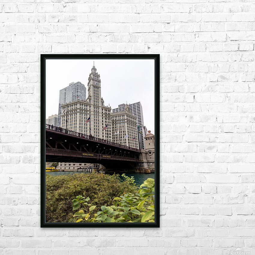 Wrigley Building Chicago HD Sublimation Metal print with Decorating Float Frame (BOX)