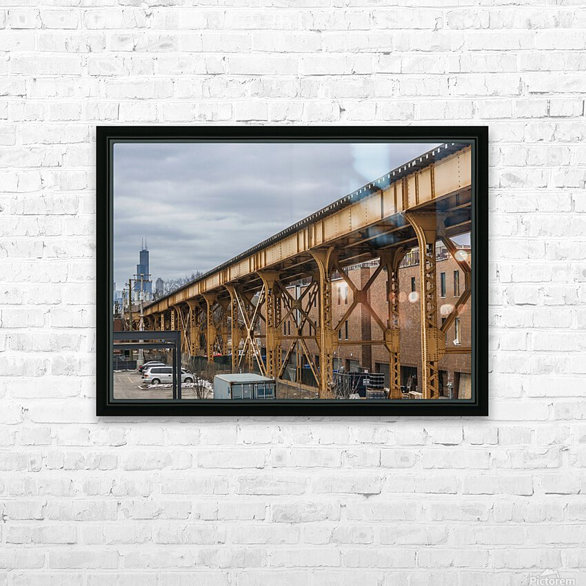 Take the Next Train HD Sublimation Metal print with Decorating Float Frame (BOX)