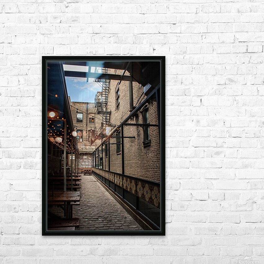 Green Street Meats HD Sublimation Metal print with Decorating Float Frame (BOX)