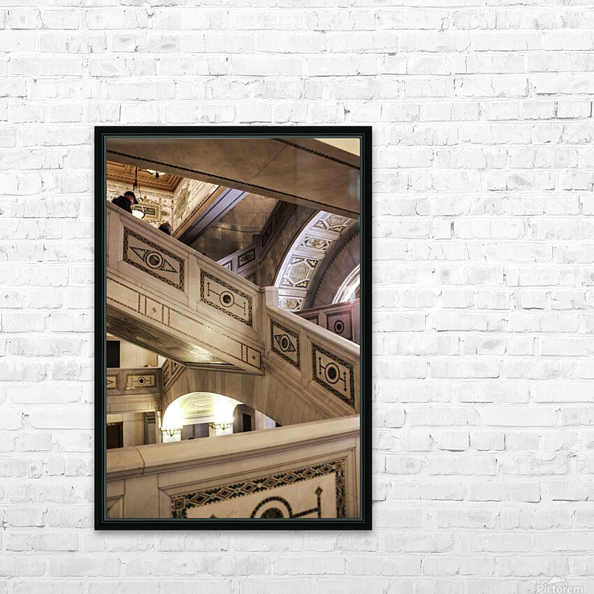 A Painting of Stairs HD Sublimation Metal print with Decorating Float Frame (BOX)