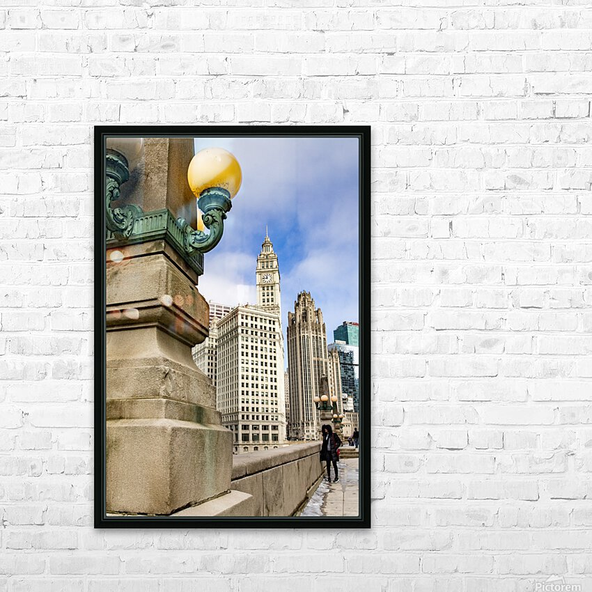 Looking into the River HD Sublimation Metal print with Decorating Float Frame (BOX)