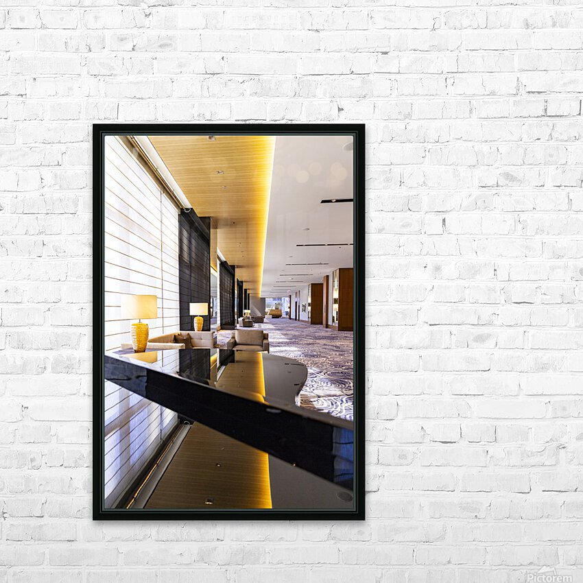 Hotel Hallways HD Sublimation Metal print with Decorating Float Frame (BOX)