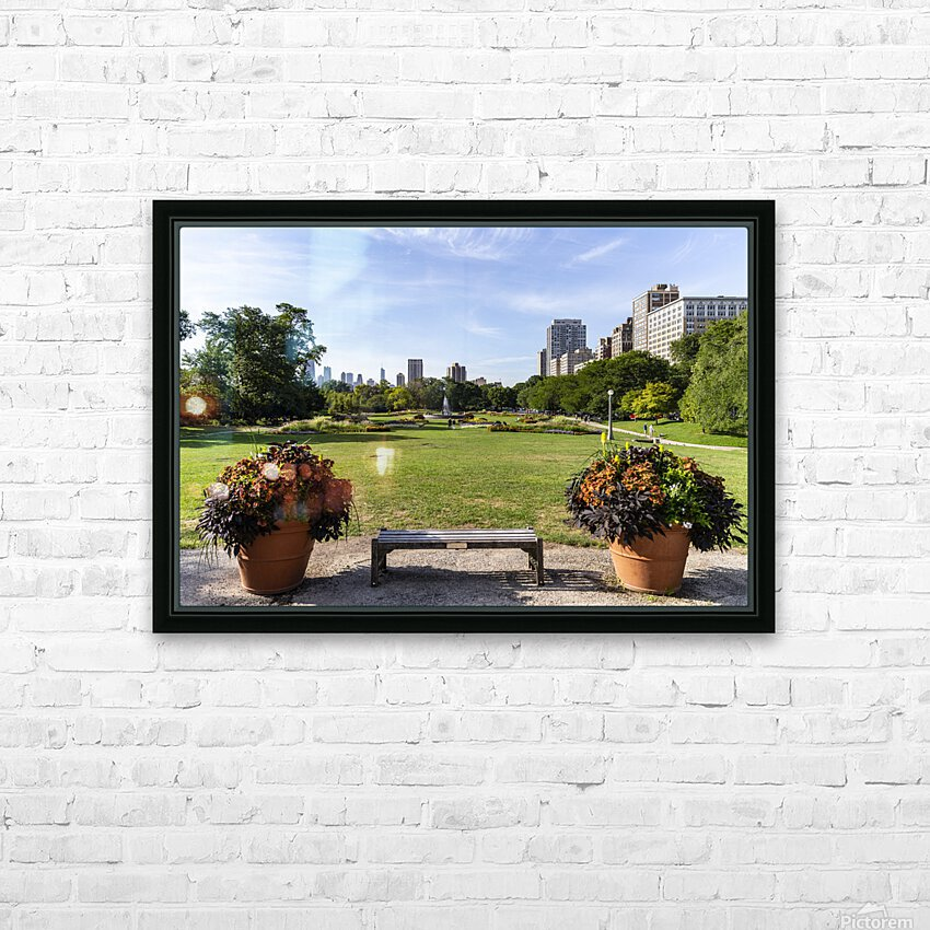Look Through Lincoln Park HD Sublimation Metal print with Decorating Float Frame (BOX)