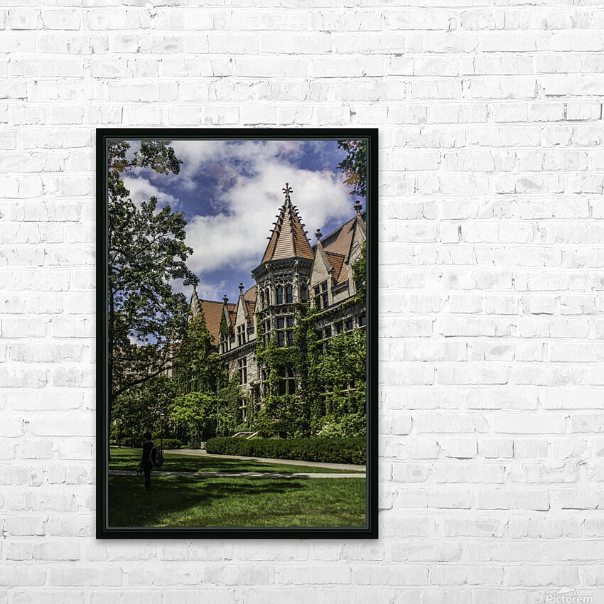 College Green HD Sublimation Metal print with Decorating Float Frame (BOX)