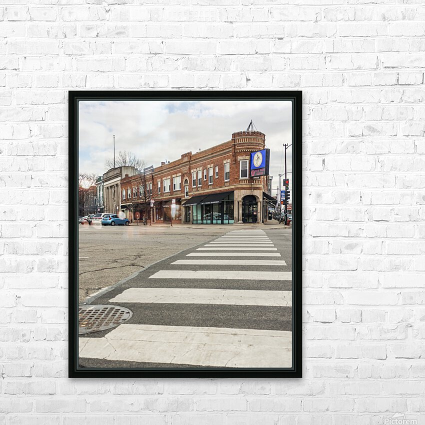 Strolling Down the Street HD Sublimation Metal print with Decorating Float Frame (BOX)