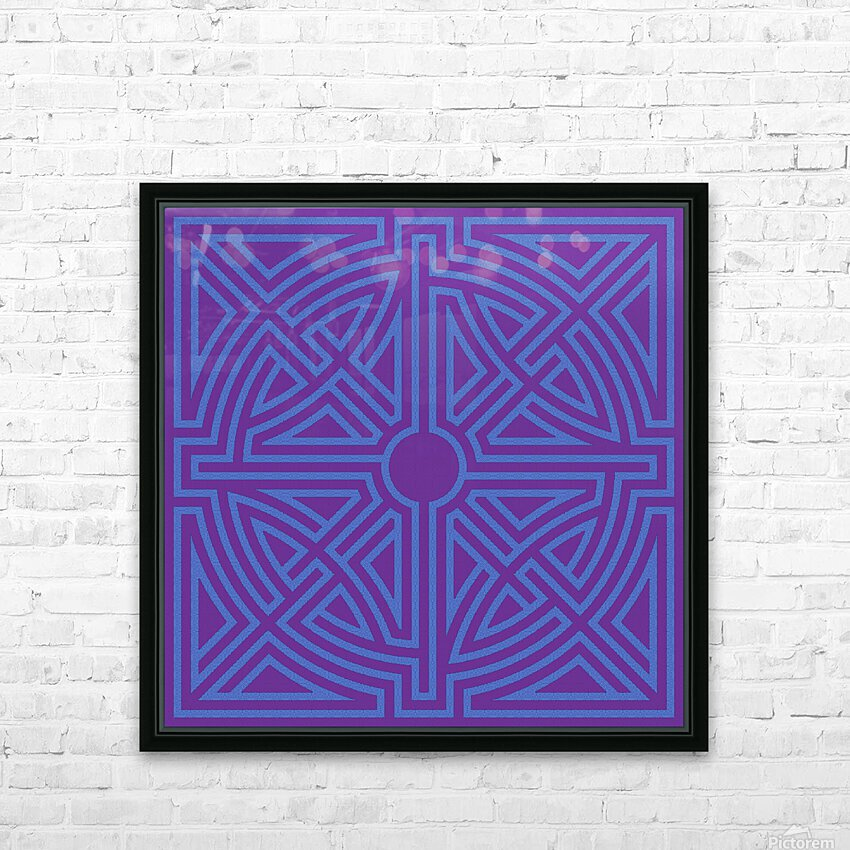 Labyrinth 6003 HD Sublimation Metal print with Decorating Float Frame (BOX)