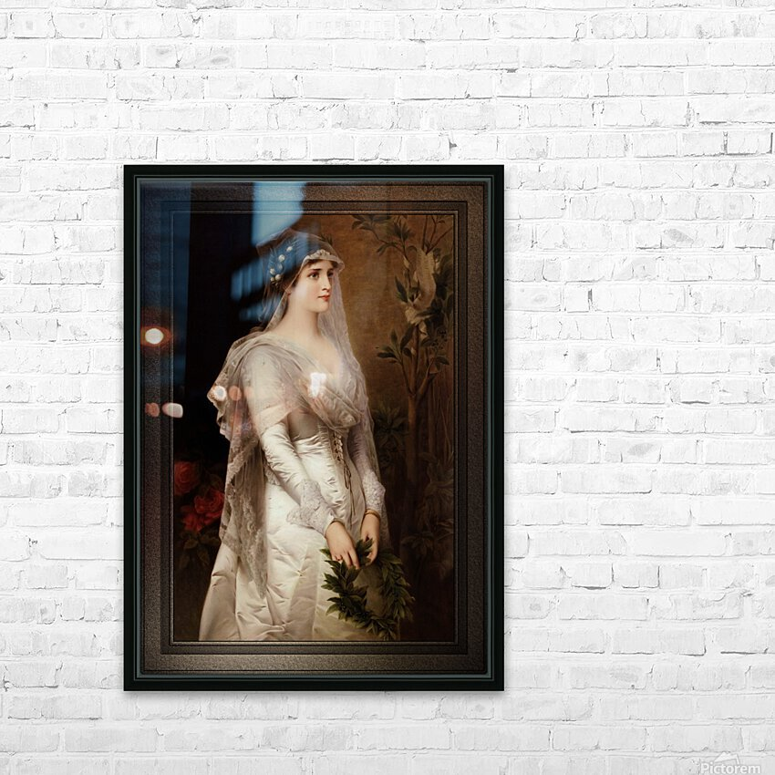 Laura by Conrad Kiesel Classical Art Xzendor7 Old Masters Reproduction HD Sublimation Metal print with Decorating Float Frame (BOX)