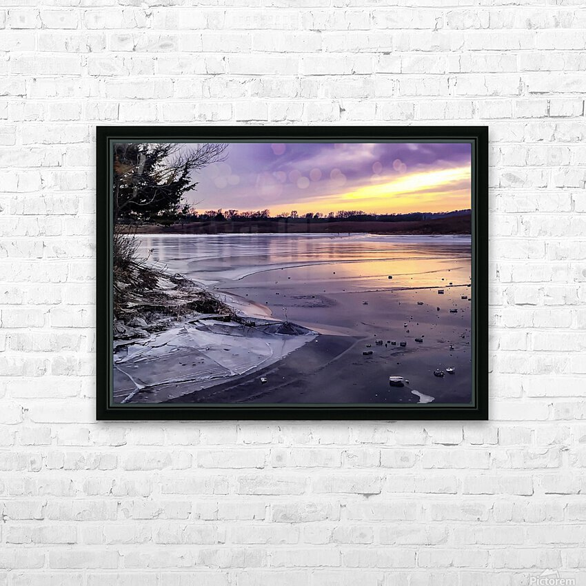 A Violet Sunset HD Sublimation Metal print with Decorating Float Frame (BOX)