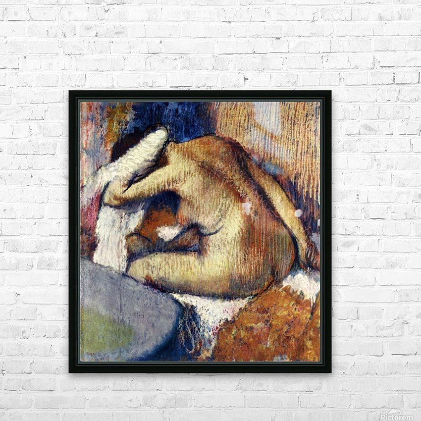 Woman drying hair by Degas HD Sublimation Metal print with Decorating Float Frame (BOX)