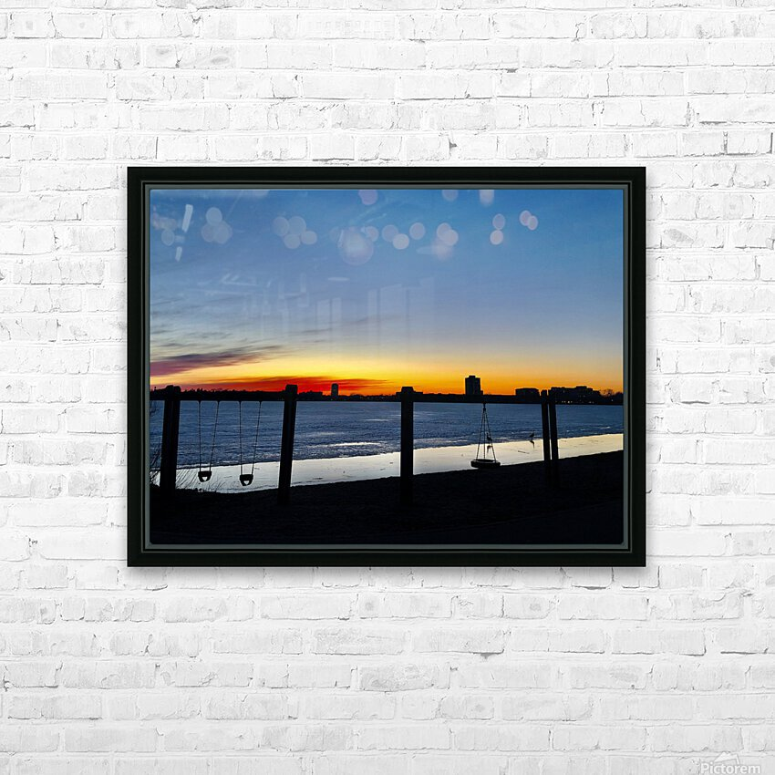The City is My Playground HD Sublimation Metal print with Decorating Float Frame (BOX)