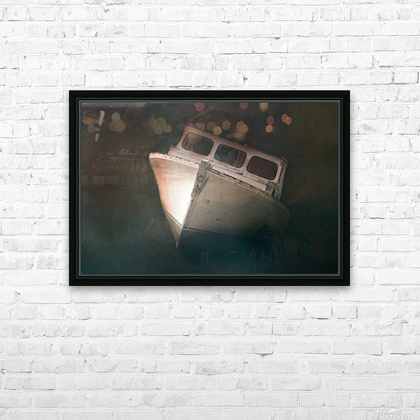 Old and Weathered HD Sublimation Metal print with Decorating Float Frame (BOX)
