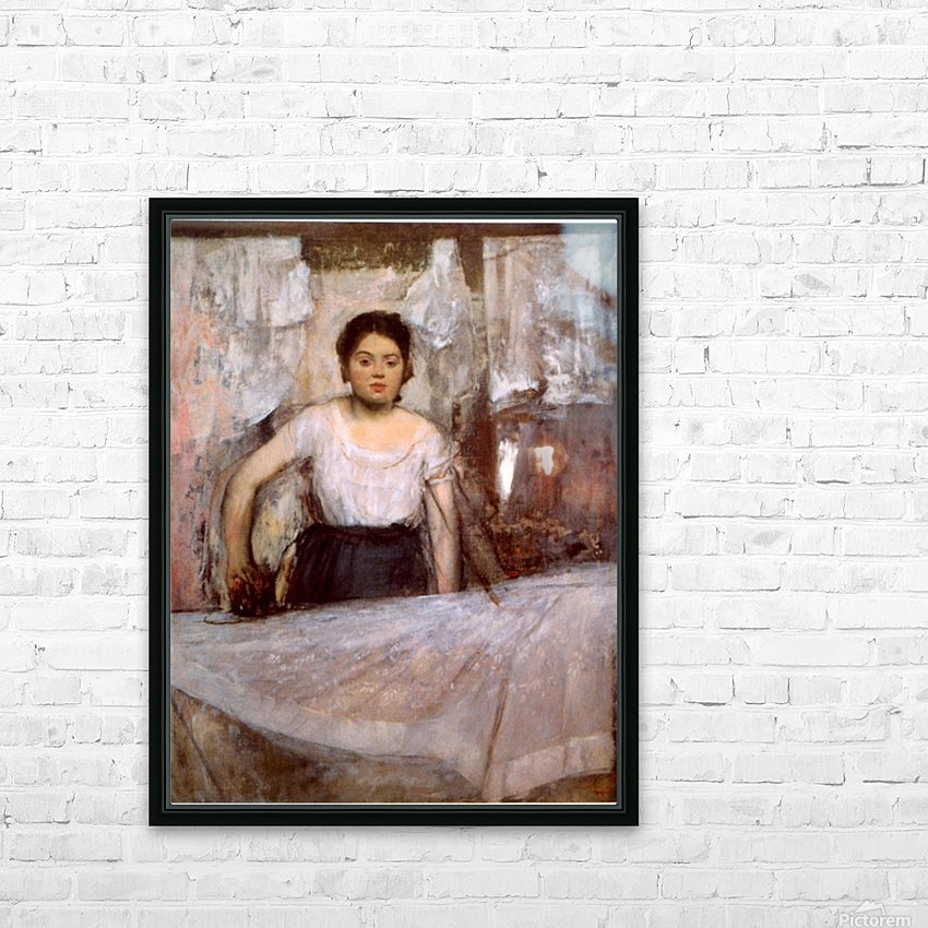 Woman Ironing by Degas HD Sublimation Metal print with Decorating Float Frame (BOX)