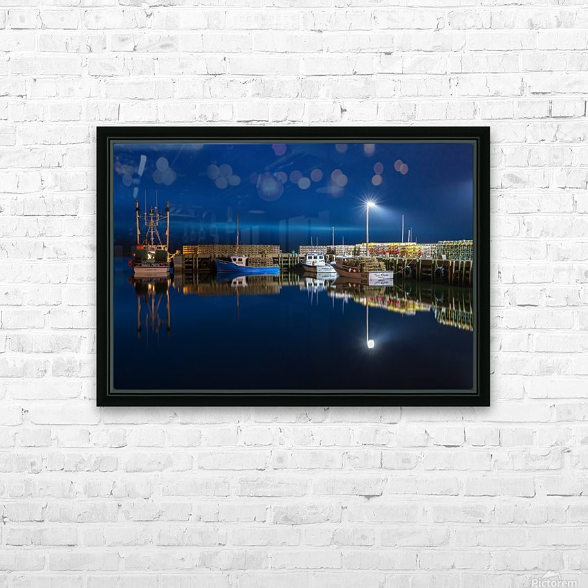 Night Time at the Wharf HD Sublimation Metal print with Decorating Float Frame (BOX)