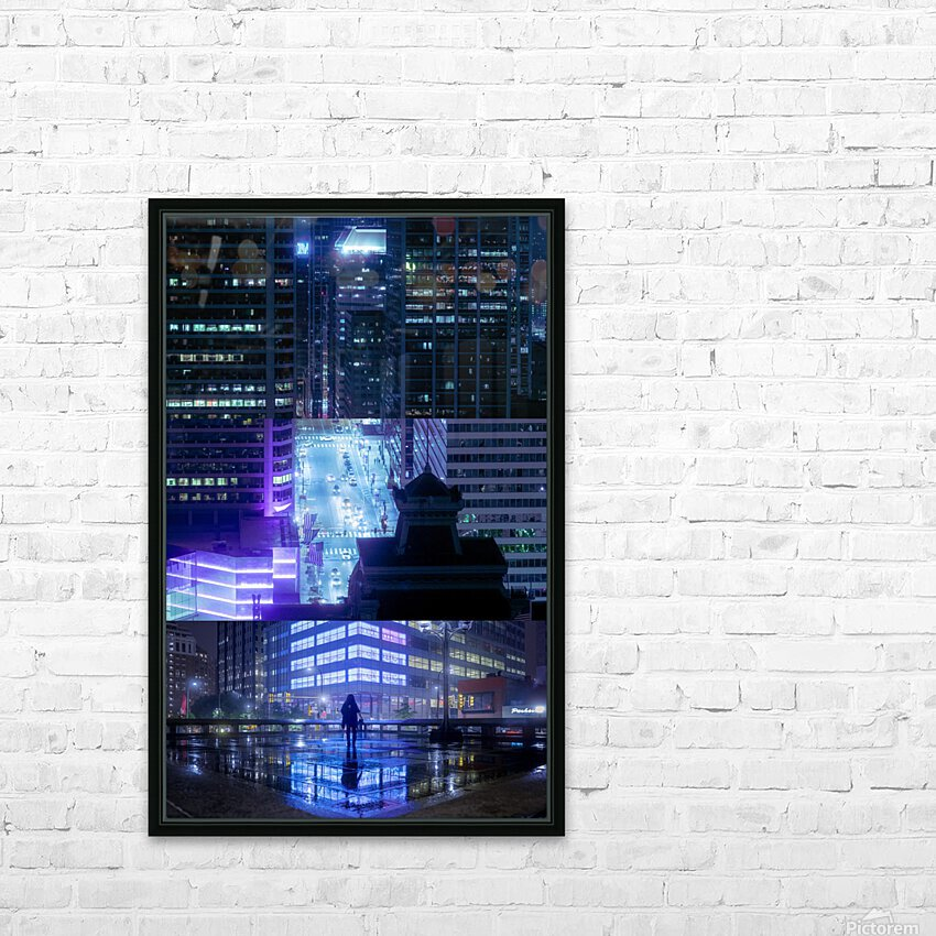 Nocturne City HD Sublimation Metal print with Decorating Float Frame (BOX)