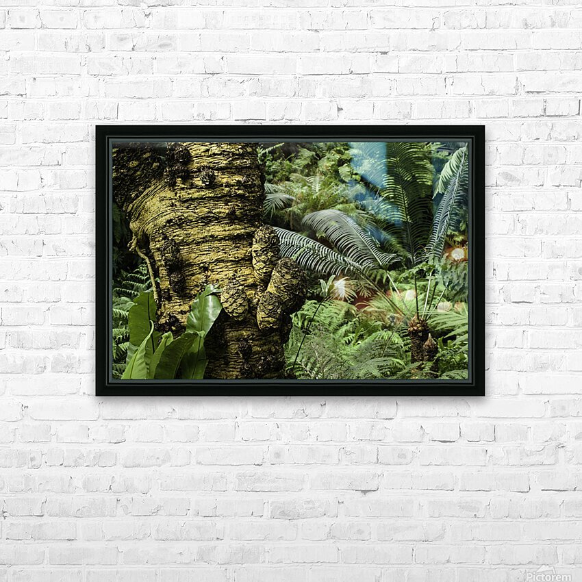 Trees Textures HD Sublimation Metal print with Decorating Float Frame (BOX)