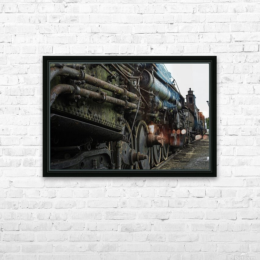 Old Train in the Yard HD Sublimation Metal print with Decorating Float Frame (BOX)