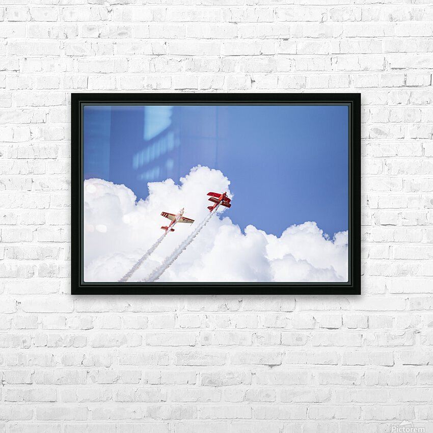Red Against a Blue Sky HD Sublimation Metal print with Decorating Float Frame (BOX)