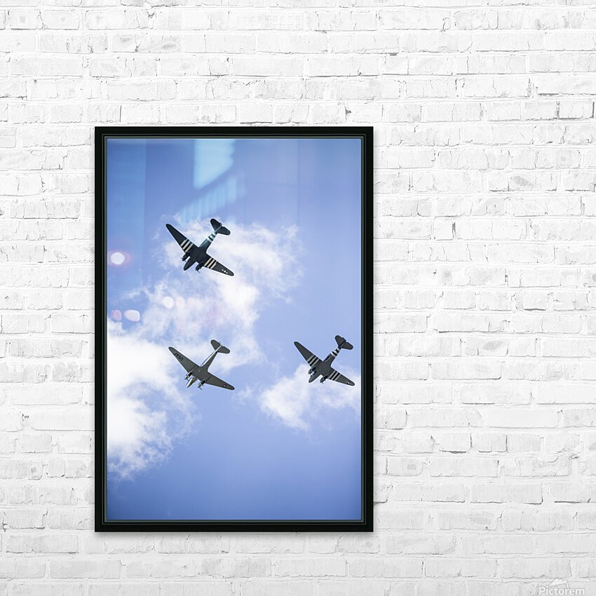Fly By HD Sublimation Metal print with Decorating Float Frame (BOX)