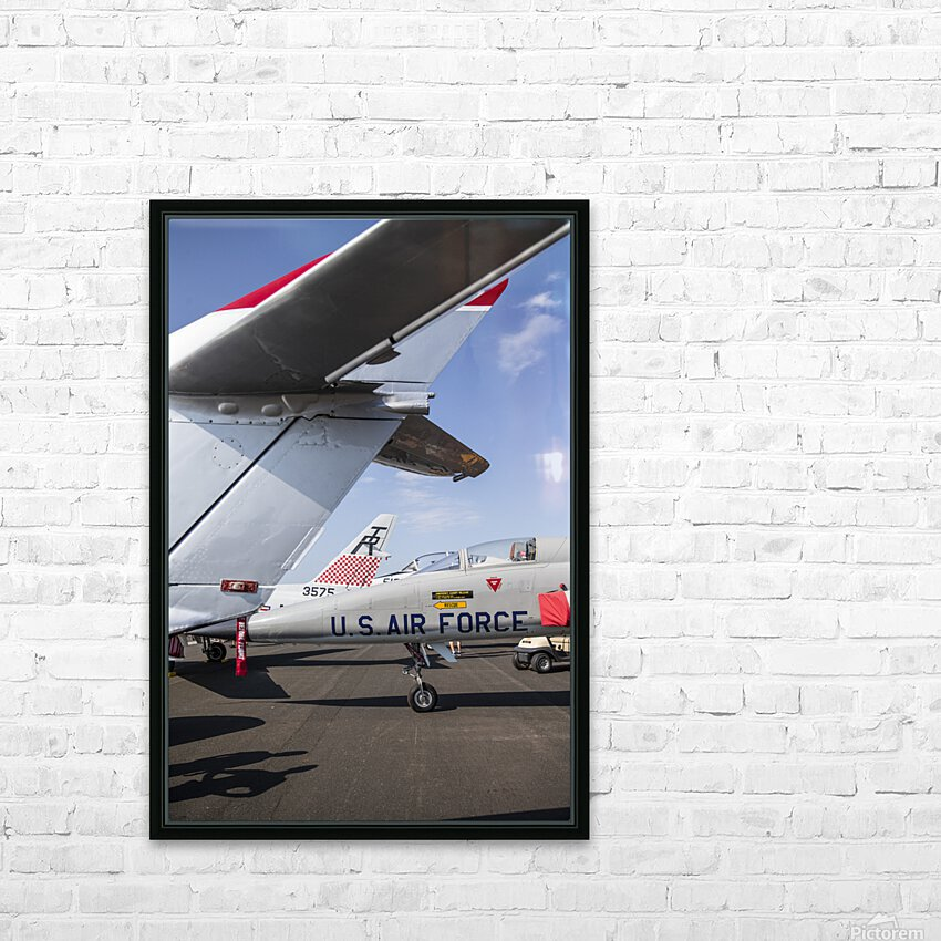 A Line of Planes HD Sublimation Metal print with Decorating Float Frame (BOX)
