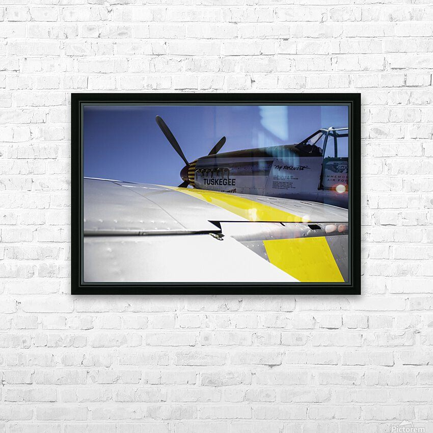 Tuskegee Airmen HD Sublimation Metal print with Decorating Float Frame (BOX)