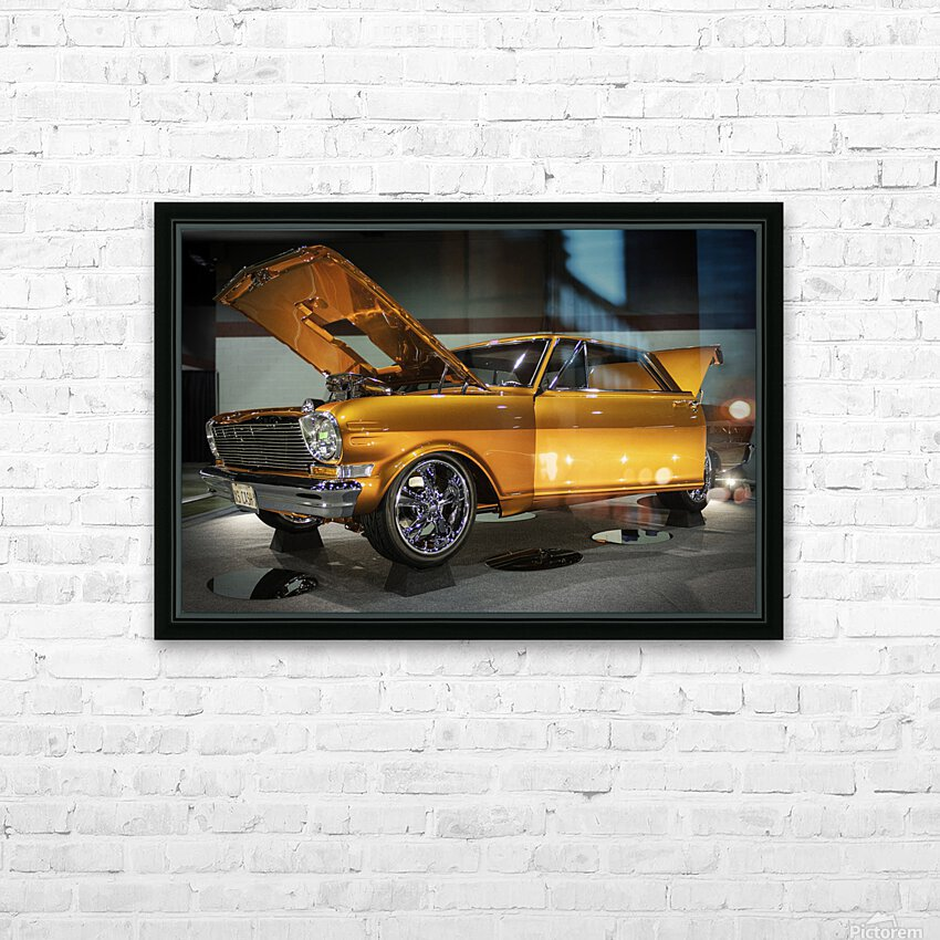 1966 Chevy II Nova HD Sublimation Metal print with Decorating Float Frame (BOX)