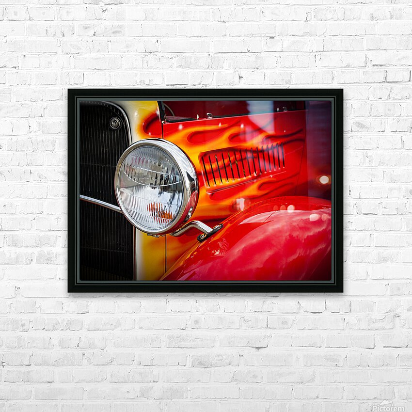 Light the Flames HD Sublimation Metal print with Decorating Float Frame (BOX)