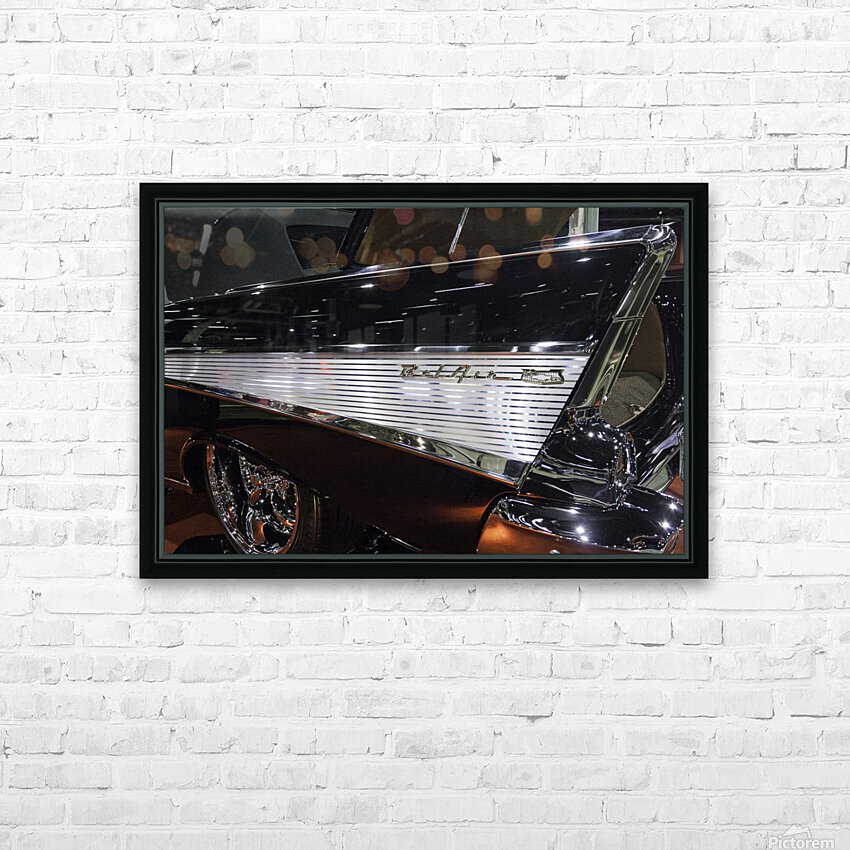 1957 Chevy Belair HD Sublimation Metal print with Decorating Float Frame (BOX)