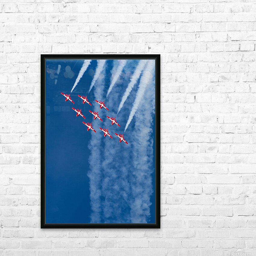 Snow Birds in Flight HD Sublimation Metal print with Decorating Float Frame (BOX)