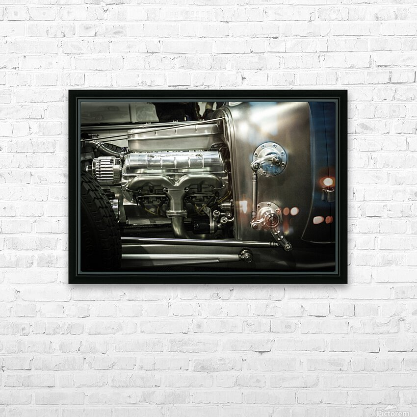 Modified Engine HD Sublimation Metal print with Decorating Float Frame (BOX)