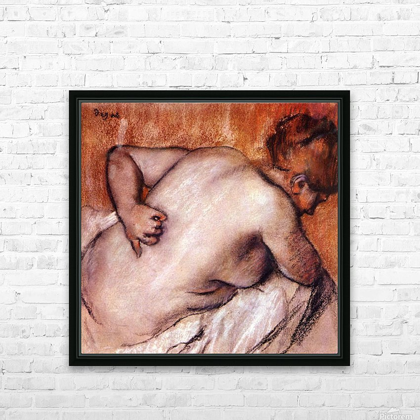 Womans back by Degas HD Sublimation Metal print with Decorating Float Frame (BOX)