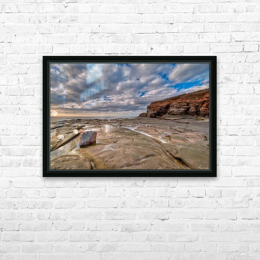 Low Tide in Petit Etang HD Sublimation Metal print with Decorating Float Frame (BOX)