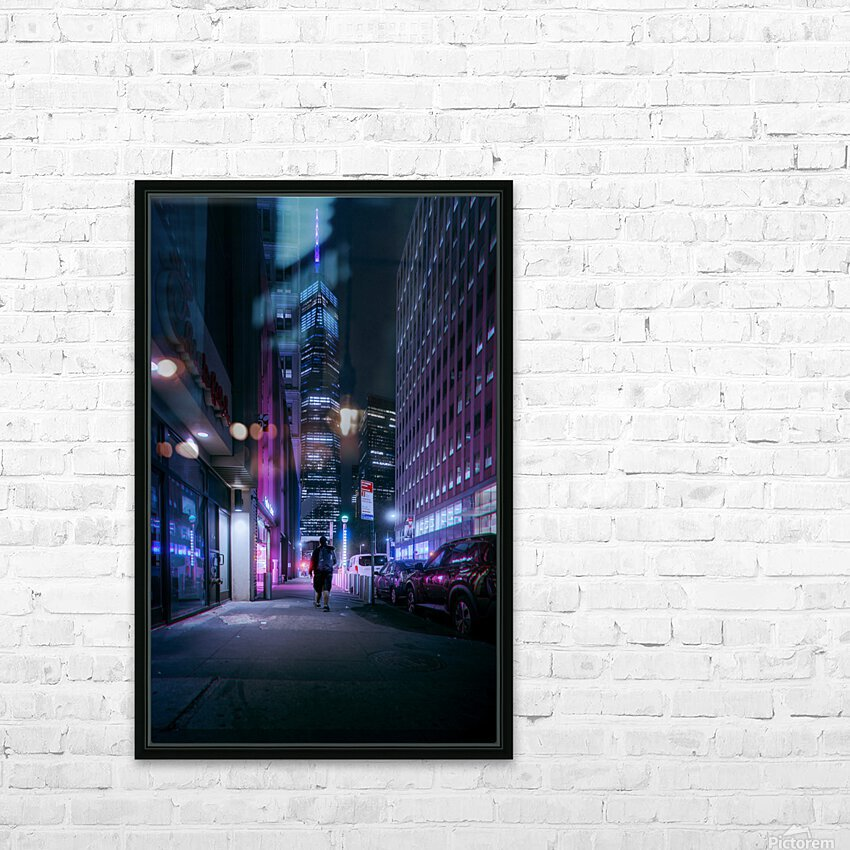 Beacon In The Night HD Sublimation Metal print with Decorating Float Frame (BOX)