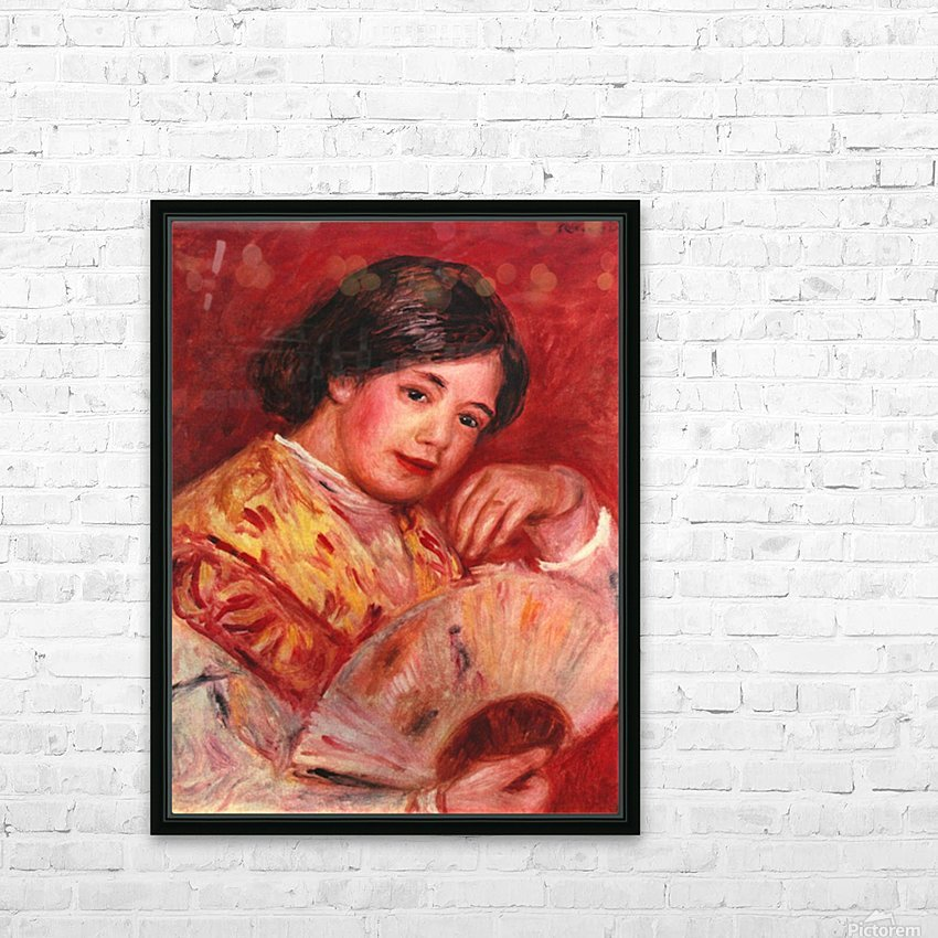 Young girl with fan by Renoir HD Sublimation Metal print with Decorating Float Frame (BOX)