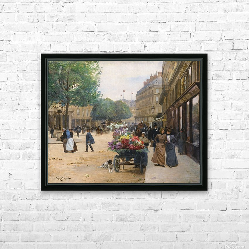 Flower seller in the central market HD Sublimation Metal print with Decorating Float Frame (BOX)