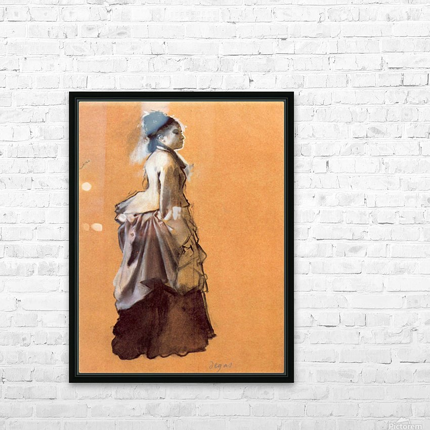 Young lady in the road costume by Degas HD Sublimation Metal print with Decorating Float Frame (BOX)