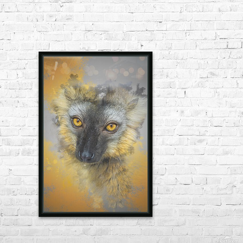Lemurien HD Sublimation Metal print with Decorating Float Frame (BOX)