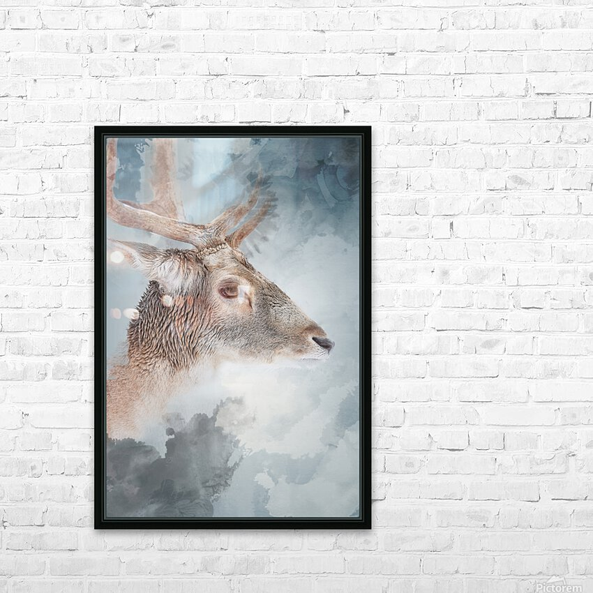 Cerf  HD Sublimation Metal print with Decorating Float Frame (BOX)