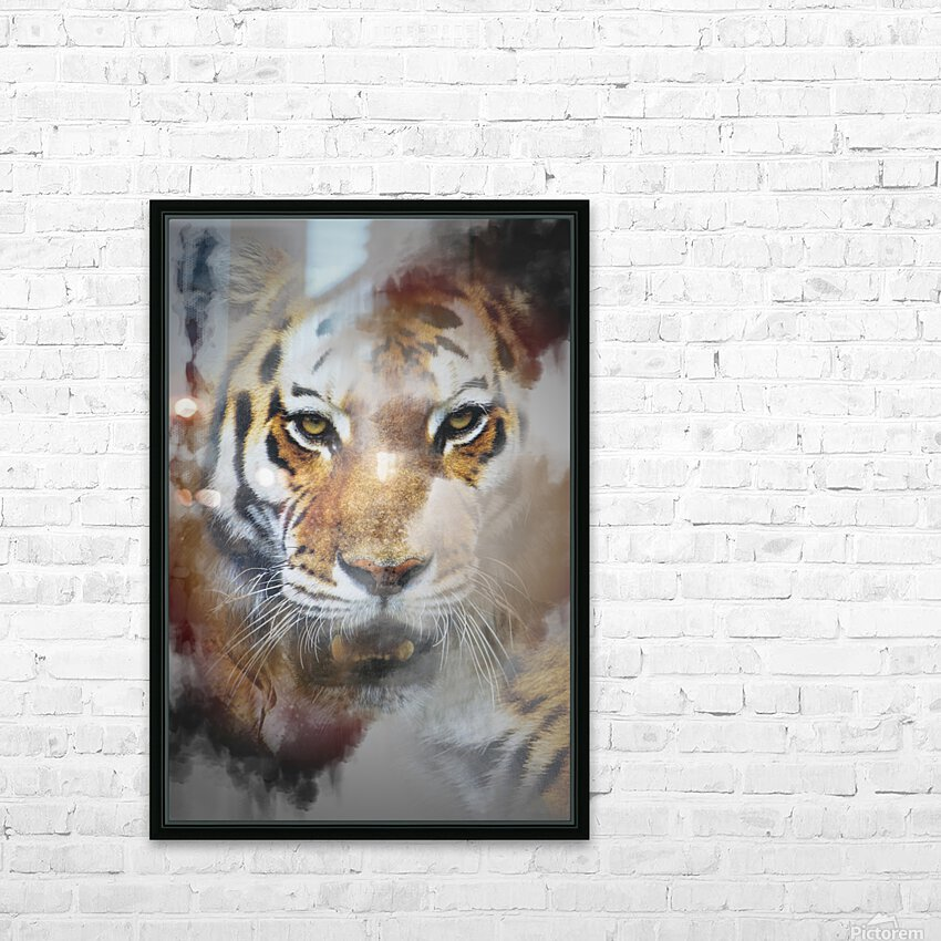 Tigre HD Sublimation Metal print with Decorating Float Frame (BOX)
