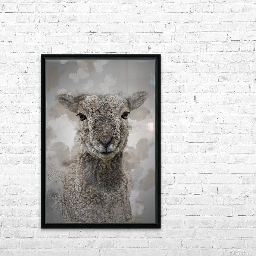 Mouflon HD Sublimation Metal print with Decorating Float Frame (BOX)