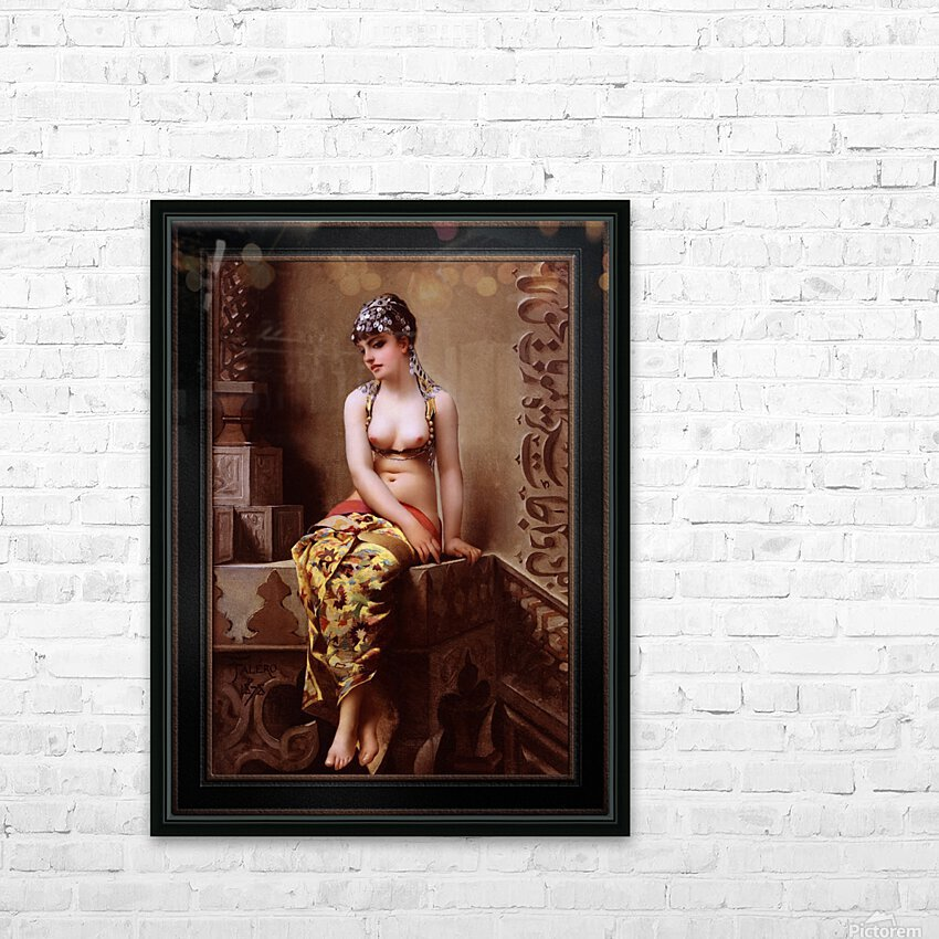 Enchantress by Luis Ricardo Falero Classical Art Xzendor7 Old Masters Reproductions HD Sublimation Metal print with Decorating Float Frame (BOX)