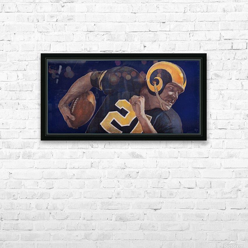 1959 LA Rams Vintage Football Art HD Sublimation Metal print with Decorating Float Frame (BOX)