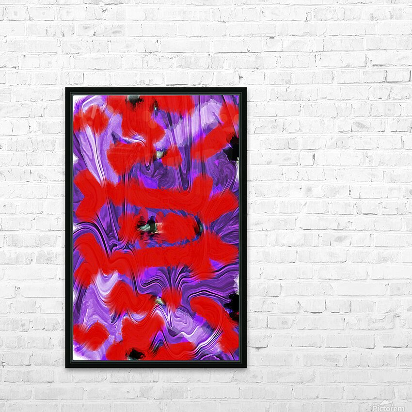 Purple Explorer HD Sublimation Metal print with Decorating Float Frame (BOX)