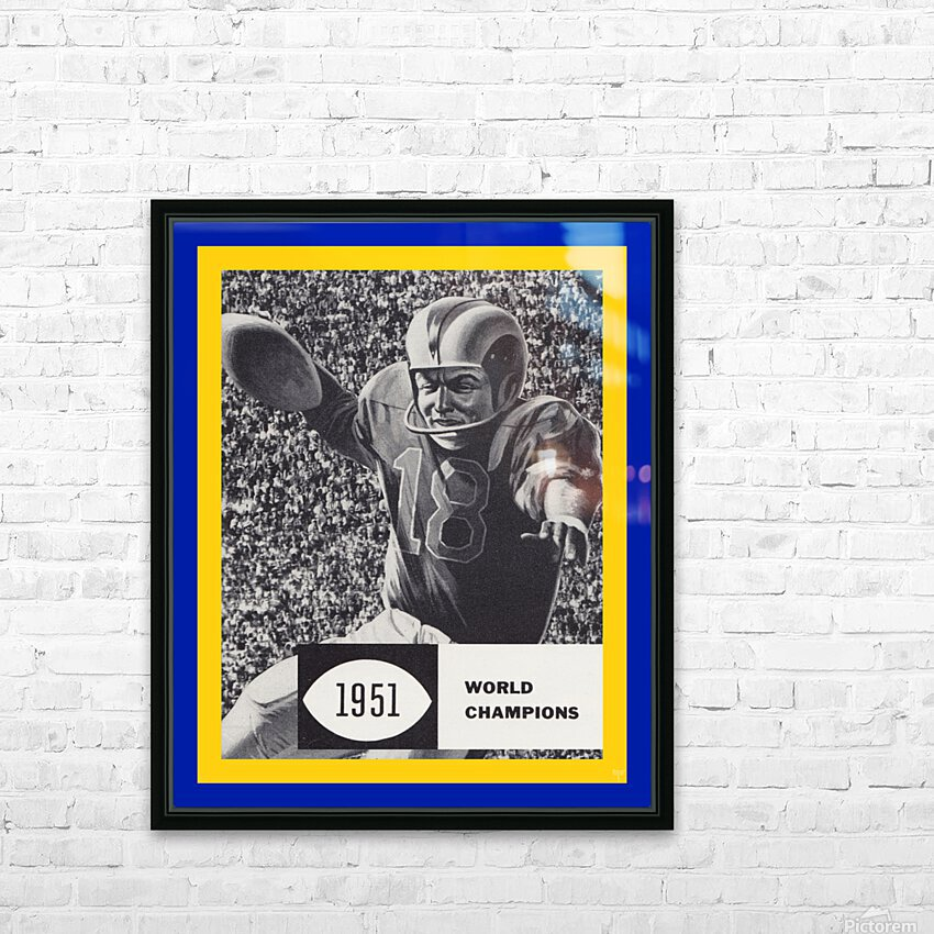 LA Rams 1951 World Champions Art HD Sublimation Metal print with Decorating Float Frame (BOX)