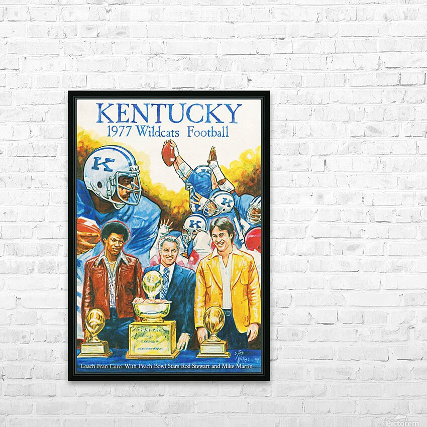 1977 Kentucky Football Poster HD Sublimation Metal print with Decorating Float Frame (BOX)