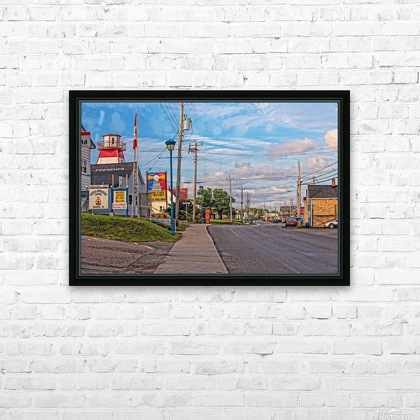 Cheticamp - Main Street HD Sublimation Metal print with Decorating Float Frame (BOX)