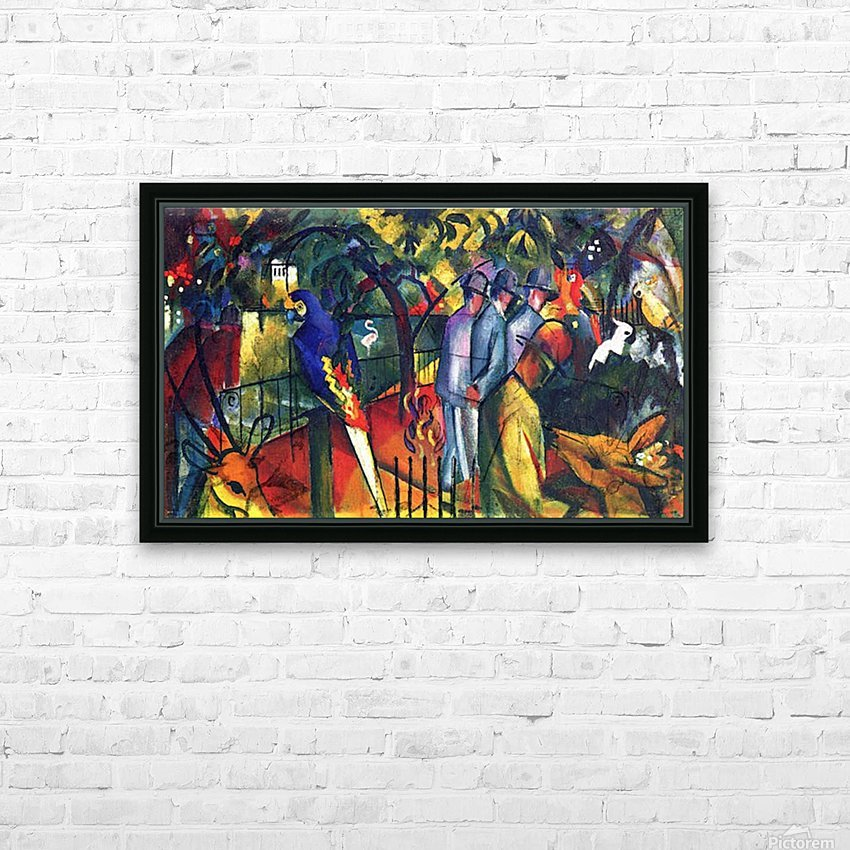 zoological gardens by Macke HD Sublimation Metal print with Decorating Float Frame (BOX)