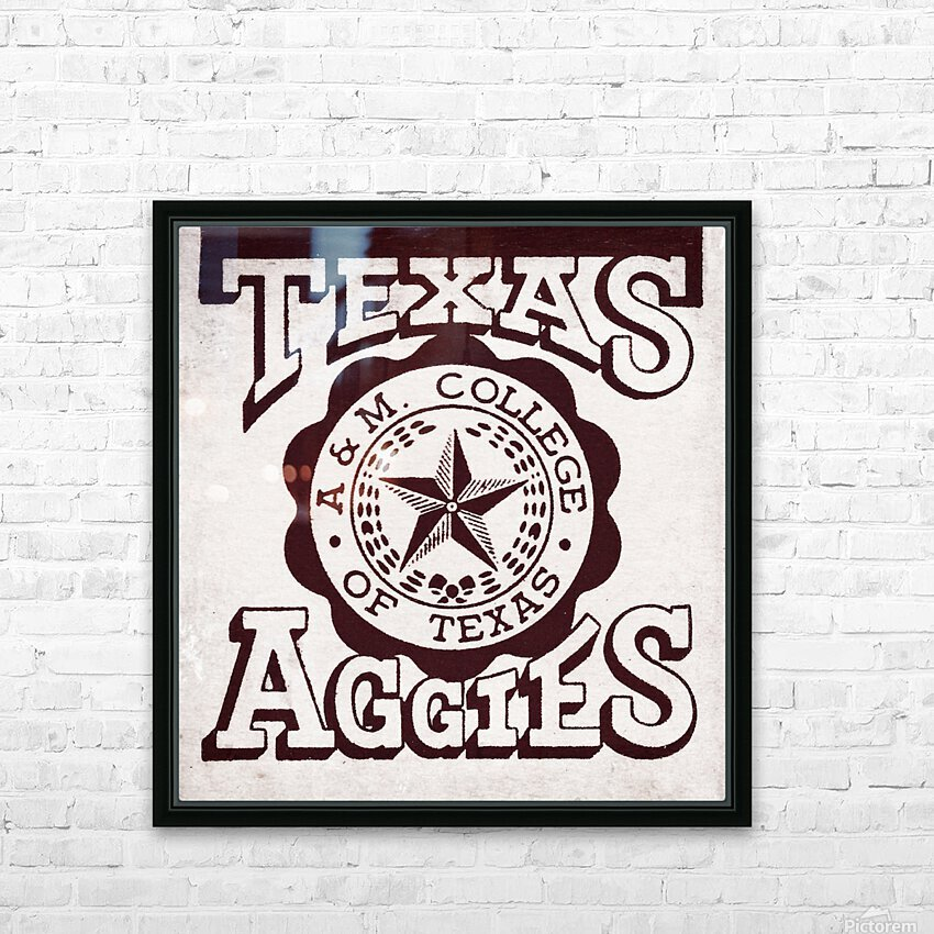 Vintage Texas Aggies Art HD Sublimation Metal print with Decorating Float Frame (BOX)